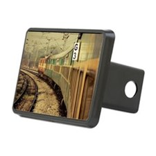 Train moving along track Hitch Cover