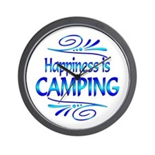 Happiness is Camping Wall Clock
