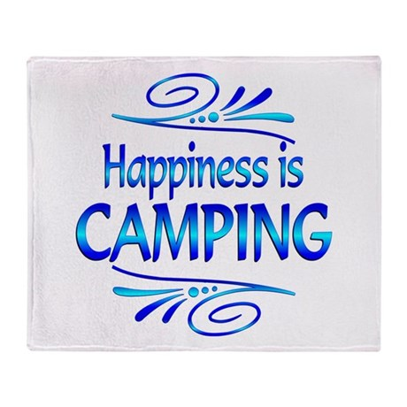 Happiness is Camping Throw Blanket