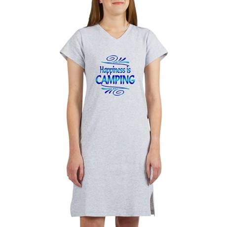 Happiness is Camping Women's Nightshirt