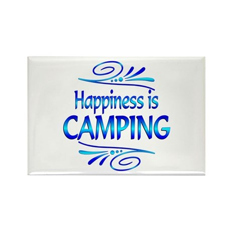 Happiness is Camping Rectangle Magnet (10 pack)