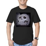 Scary Skull Men's Fitted T-Shirt (dark)
