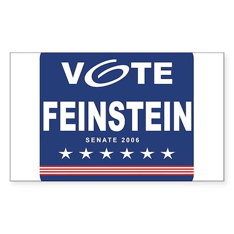 Vote Dianne Feinstein Rectangle Sticker