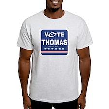 Vote Craig Thomas Ash Grey T-Shirt