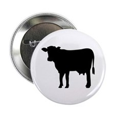 "Black cow 2.25"" Button (100 pack)"