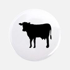 "Black cow 3.5"" Button"