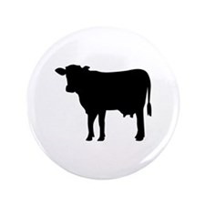 """Black cow 3.5"""" Button (100 pack)"""