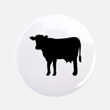 "Black cow 3.5"" Button (100 pack)"