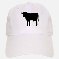 Black cow Baseball Baseball Cap