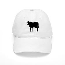 Black cow Baseball Cap