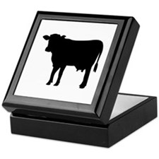 Black cow Keepsake Box