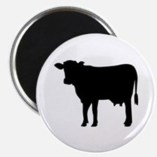 Black cow Magnet