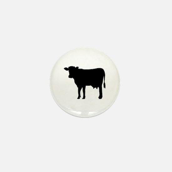 Black cow Mini Button