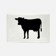 Black cow Rectangle Magnet