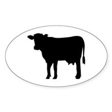 Black cow Decal