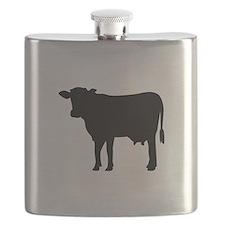 Black cow Flask