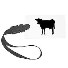 Black cow Luggage Tag