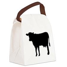Black cow Canvas Lunch Bag