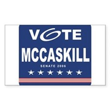 Vote Claire McCaskill Rectangle Decal