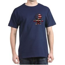 Flag-painted-Skull-AMERICA-4TH T-Shirt