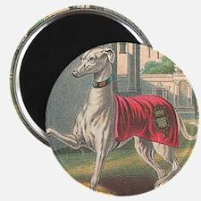 Unique Greyhound antique Magnet