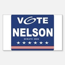 Vote Bill Nelson Rectangle Decal