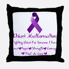 Chiari Malformation Awareness Throw Pillow