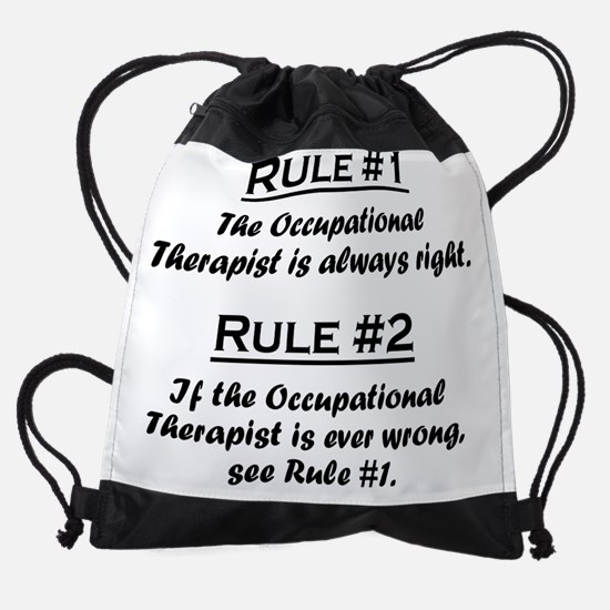 Rule Occupational Therapist.png Drawstring Bag