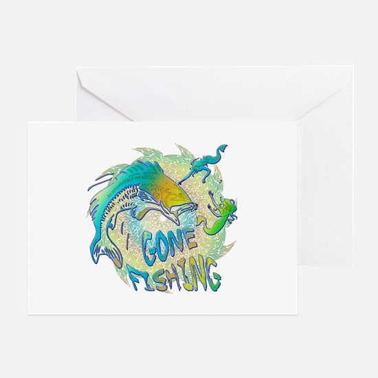 Gone Fishing 3 Greeting Card