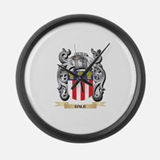 Dale Coat of Arms - Family Crest Large Wall Clock