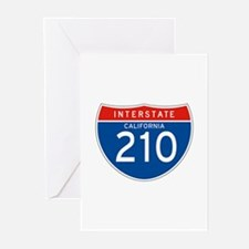 Interstate 210 - CA Greeting Cards (Pk of 10)