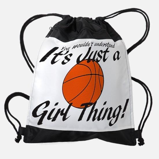 basketball Girl Thing.png Drawstring Bag