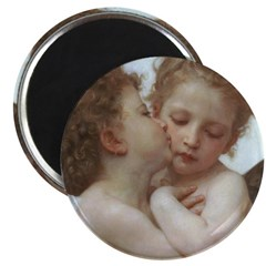 Baby Angels Kiss Bouguereau Painting Magnet