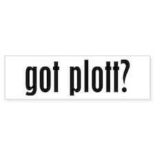 Got Plott? Bumper Bumper Sticker