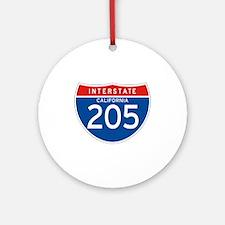 Interstate 205 - CA Ornament (Round)