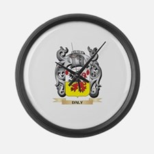 Daly Coat of Arms - Family Crest Large Wall Clock