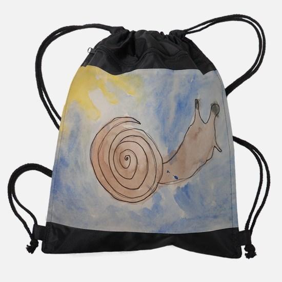 KaiaAbrahamSnail.jpg Drawstring Bag