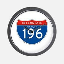 Interstate 196 - MI Wall Clock