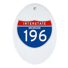 Interstate 196 - MI Oval Ornament