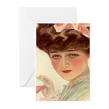 Victorian Lady Teacup Harrison Fisher Girl Greetin