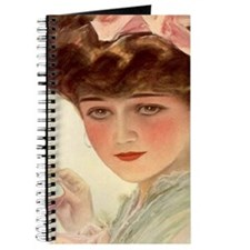 Victorian Lady Teacup Harrison Fisher Girl Journal