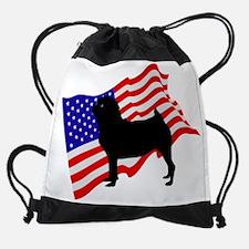 Cute Best pug design Drawstring Bag
