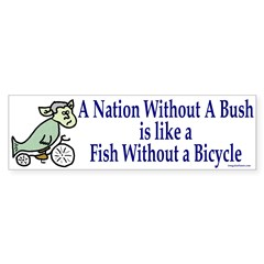 Nation Without Bush Bumper Bumper Sticker