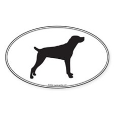 Mountain Cur Silhouette Oval Decal