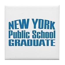 New York Public School Graduate Tile Coaster
