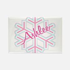 Ashlee Snowflake Personalized Rectangle Magnet
