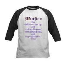 Mothers Day Bible Quote Baseball Jersey