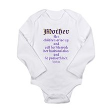 Mothers Day Bible Quote Body Suit