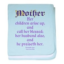Mothers Day Bible Quote baby blanket