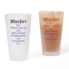 Mothers Day Bible Quote Drinking Glass